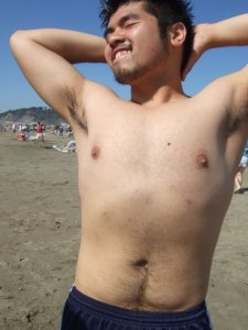 Here is a picture of me FRESHMEN YEAR, so about 5 years ago, striking a super sexy pose that I usually end my strip show with ;)