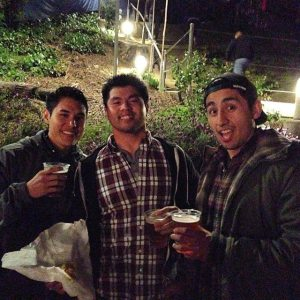 Daniel, Me and Jose at the Greek for the National and Portugal the Man show after we got our overpriced beers and hotdogs.