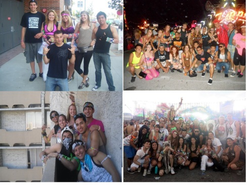 the picture of our credentials of past EDC, Koko and I are in all 4 of em, the only members of our group to do so