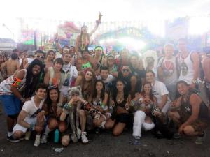 The final group picture of EDC 2013 as the sun was rising.